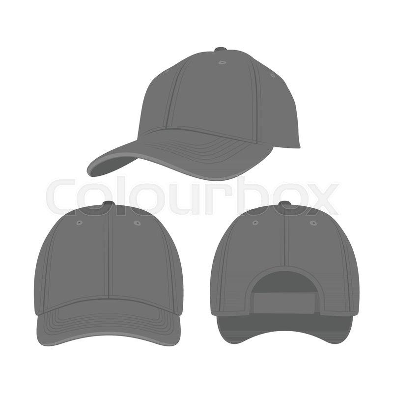 6338cc8e Black Baseball Cap isolated on white ... | Stock vector | Colourbox