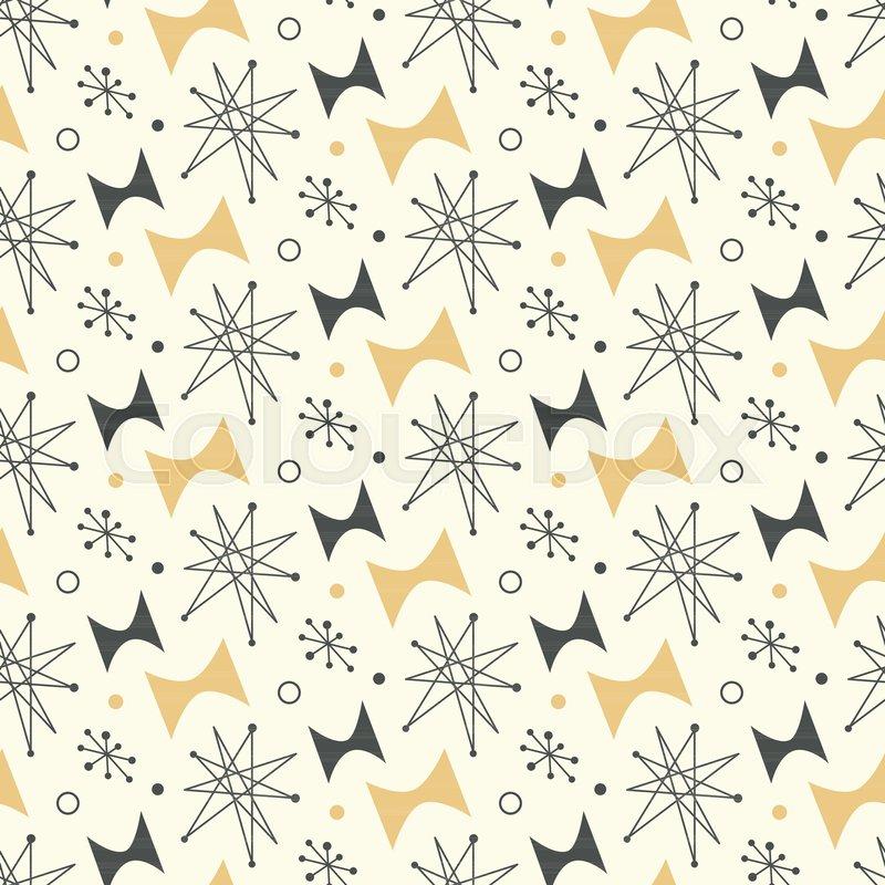 Mid century modern seamless pattern. ...   Stock Vector ...