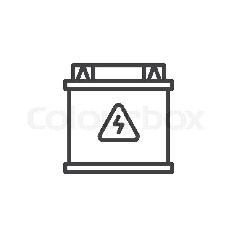Accumulator Battery Line Icon Outline Vector Sign Linear Style