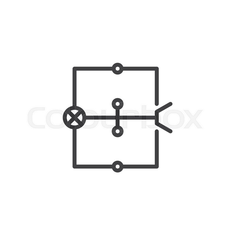 Wiring diagram line icon outline vector sign linear style wiring diagram line icon outline vector sign linear style pictogram isolated on white electric scheme symbol logo illustration ccuart Image collections