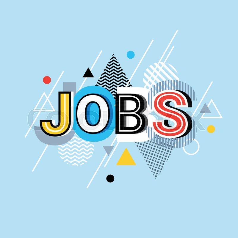 Jobs Word Creative Graphic Design Stock Vector Colourbox,Small Yacht Interior Design Ideas