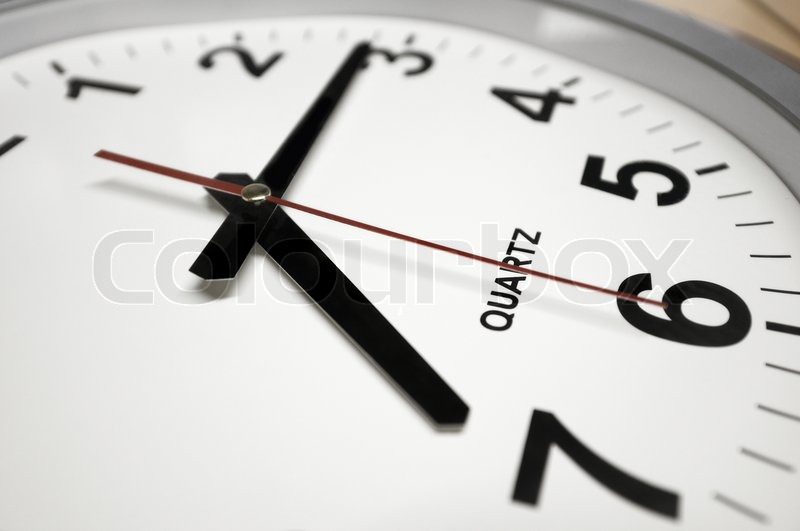 Wall Clock Arrows Indicates 7 15 Time To Go To Work