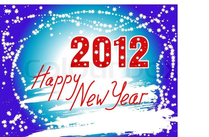Happy new year 2012 hintergrund vektorgrafik colourbox