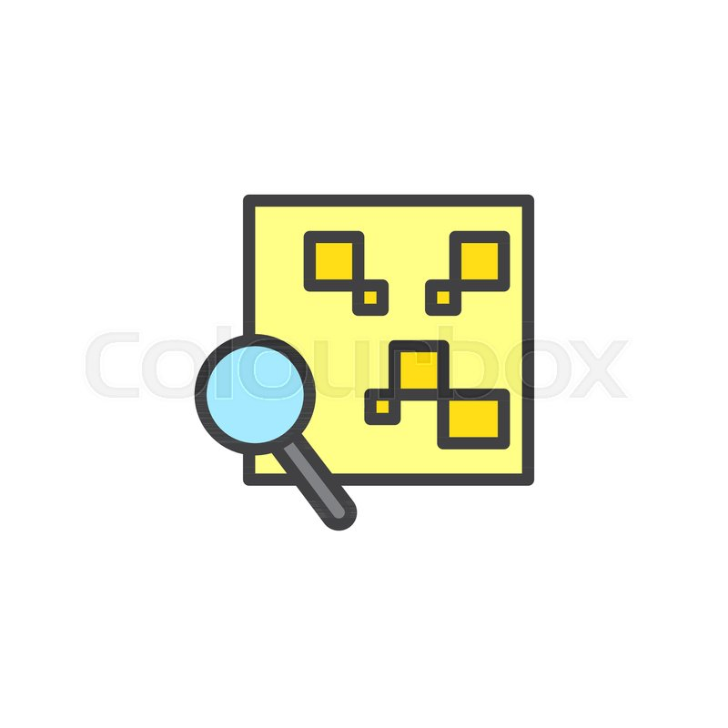 QR code with magnifying glass filled     | Stock vector | Colourbox