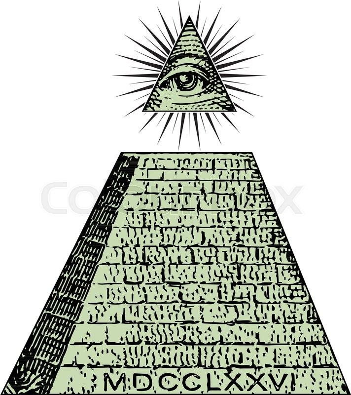 New World Order One Dollar Pyramid Illuminati Symbols Bill