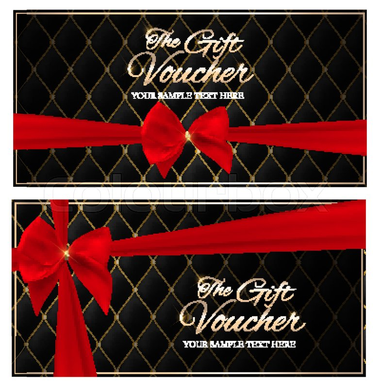Luxury Members, Gift Card Template for your Business Vector ...