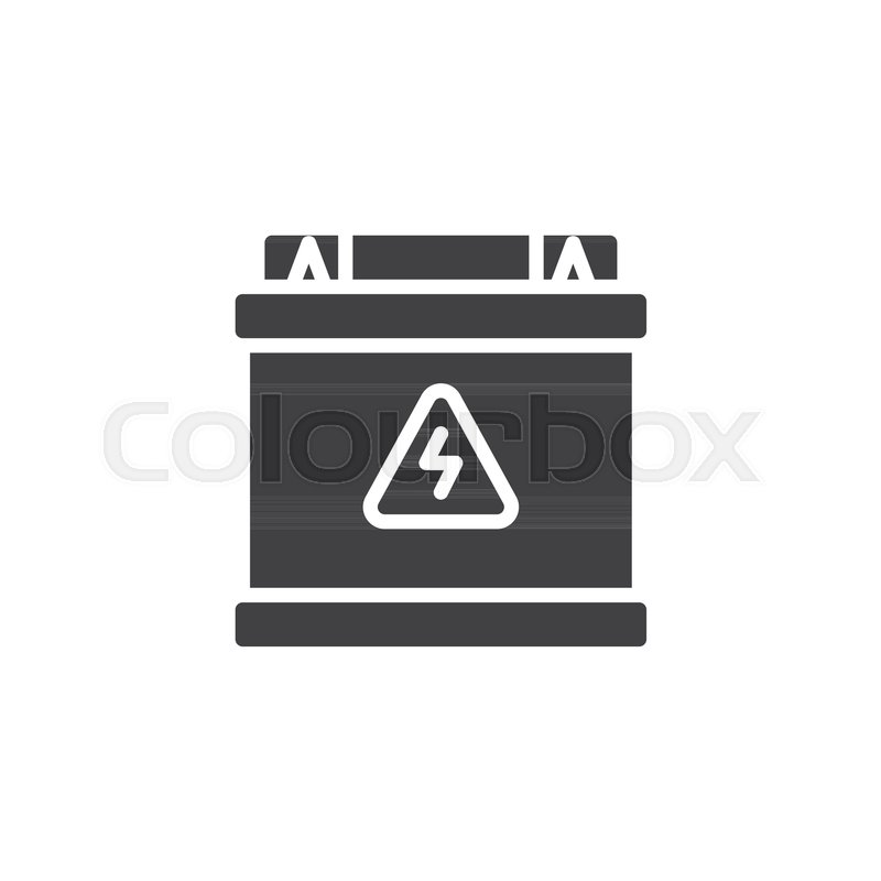 Accumulator battery icon vector, filled flat sign, solid pictogram ...
