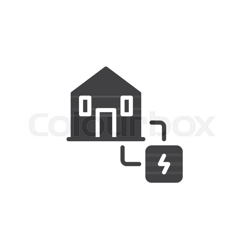 Electric power supply icon vector, filled flat sign, solid pictogram ...