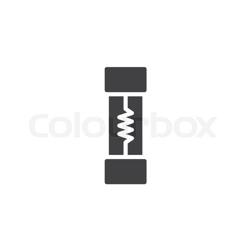 Electrical fuse icon vector, filled flat sign, solid pictogram ...