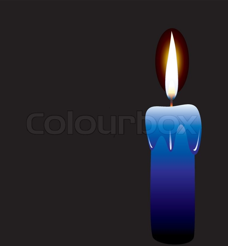Vector candle on black background | Stock Vector | Colourbox