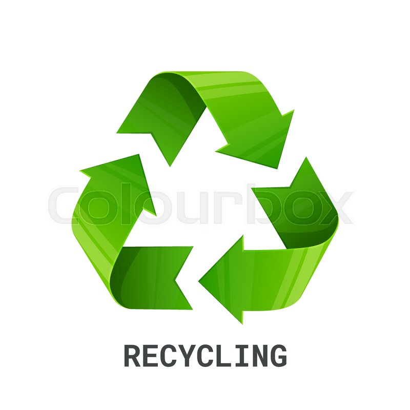Recycling Green Recycle Eco Symbol Isolated On White Background