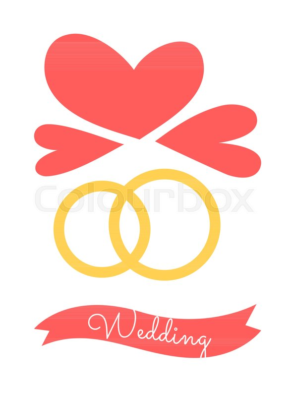 Wedding Poster With Rings As Symbols Of Eternal Love And