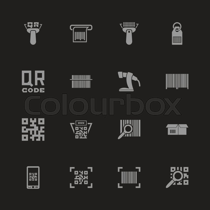 Check Code Icons Gray Symbol On Black Background Simple