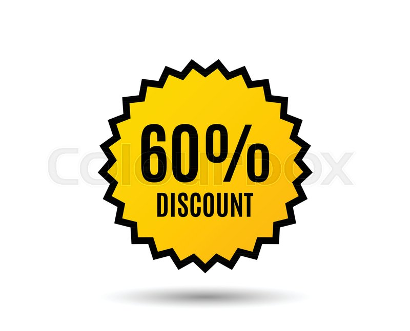 60 Discount Sale Offer Price Sign Special Offer Symbol Star