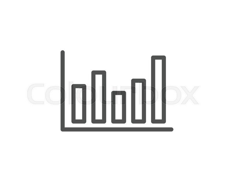 Column Chart Line Icon Financial Graph Sign Stock Exchange Symbol