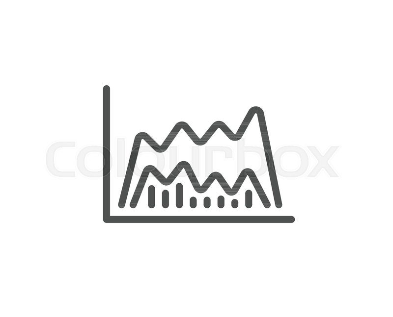 Investment Chart Line Icon Economic Graph Sign Stock Exchange
