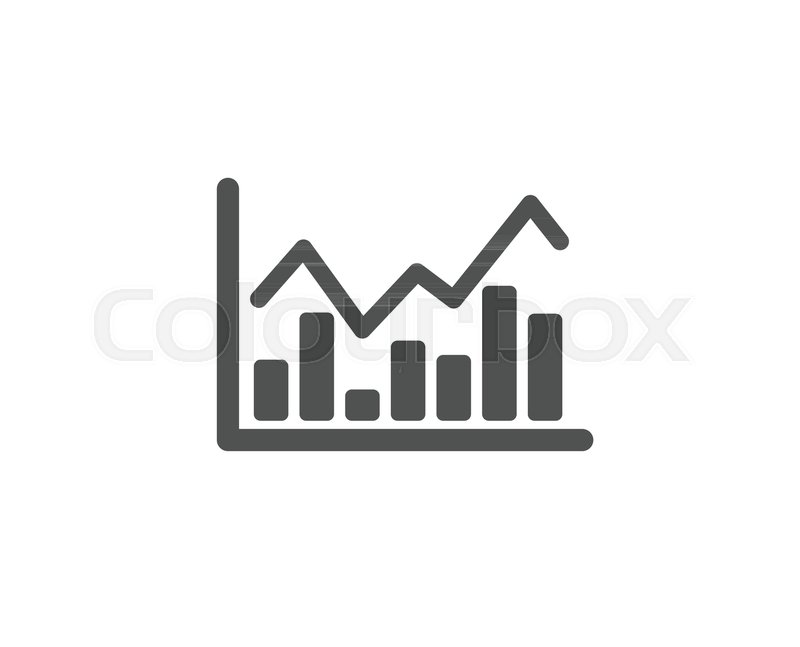 Financial Chart Simple Icon Economic Graph Sign Stock Exchange