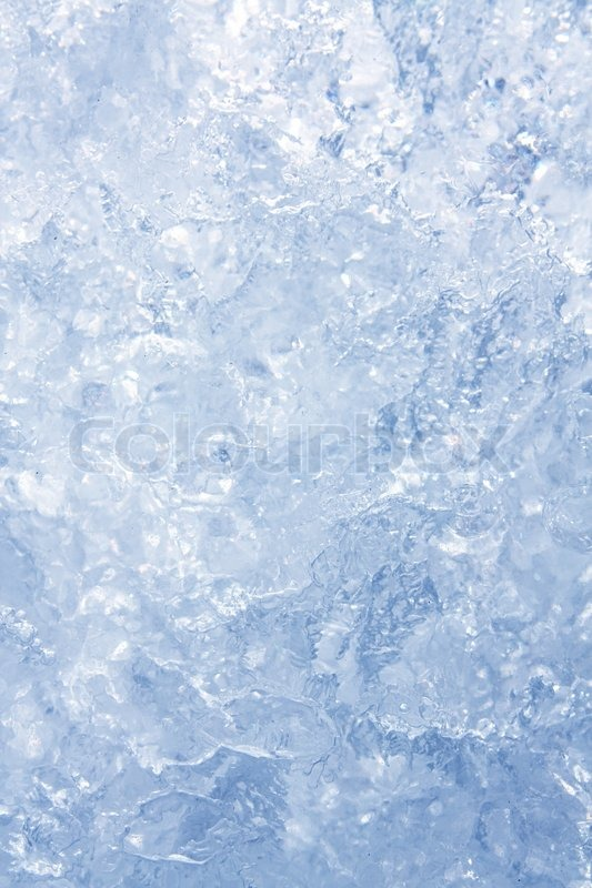 full frame ice background  frozen water  blue