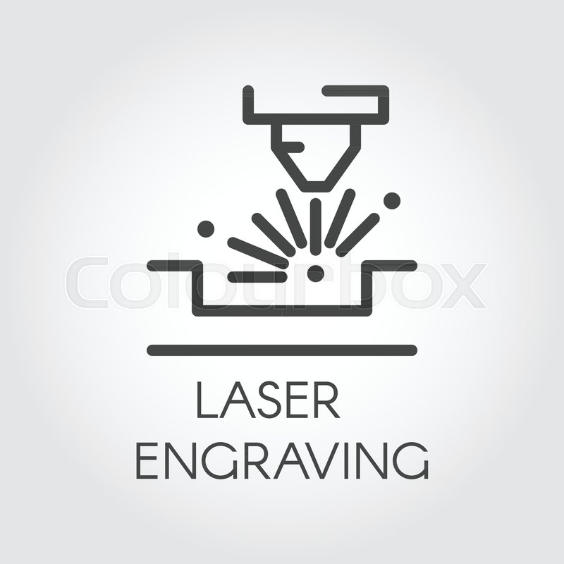 Router For Laser Engraving Line Icon Special Equipment For Cutting
