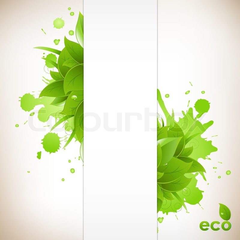 Design Eco Friendly, Isolated On White Background, Vector Illustration ...