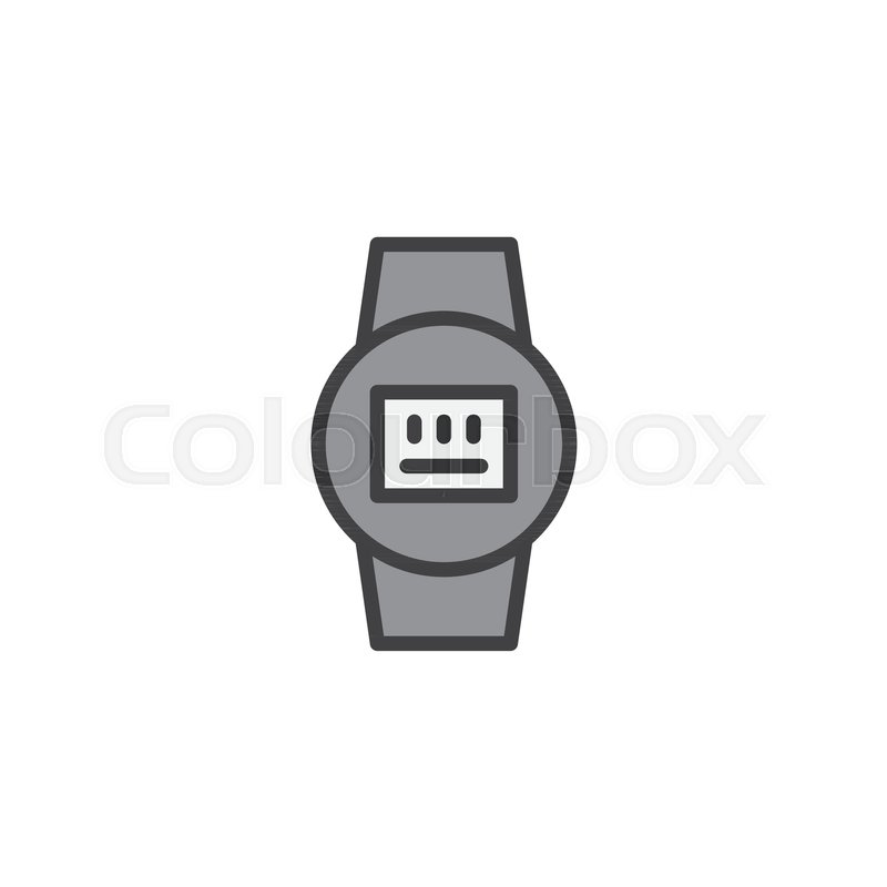 Electric meter filled outline icon, line vector sign, linear ...