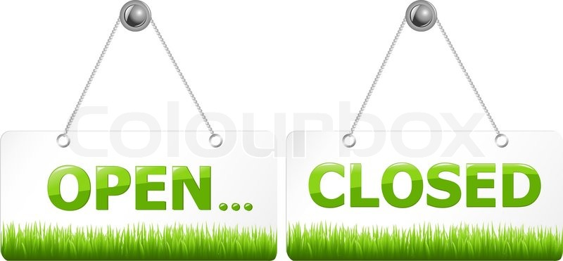 2 Glossy Open And Closed Door Signs Board Isolated On White Background Vector Illustration vector  sc 1 st  Colourbox & 2 Glossy Open And Closed Door Signs Board Isolated On White ...