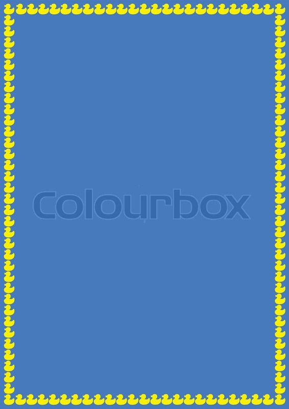 blue background with ducks border stock vector colourbox