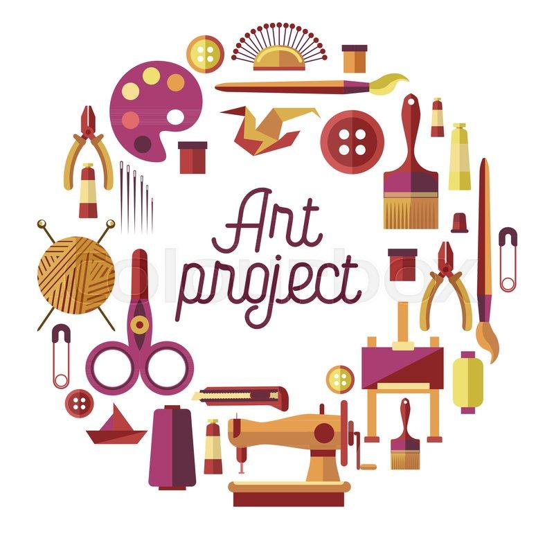 Art Project And Handicraft Classes Stock Vector Colourbox