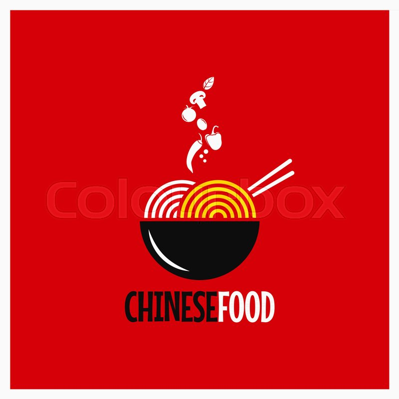 chinese food logo chinese noodles or pasta on red background 8 eps rh colourbox com chinese restaurant logan utah chinese restaurant loganville ga