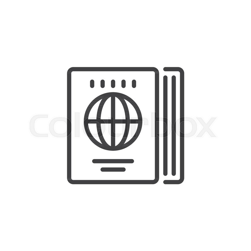 Travel guide outline icon linear style sign for mobile concept and travel guide outline icon linear style sign for mobile concept and web design world map book simple line vector icon symbol logo illustration gumiabroncs Choice Image