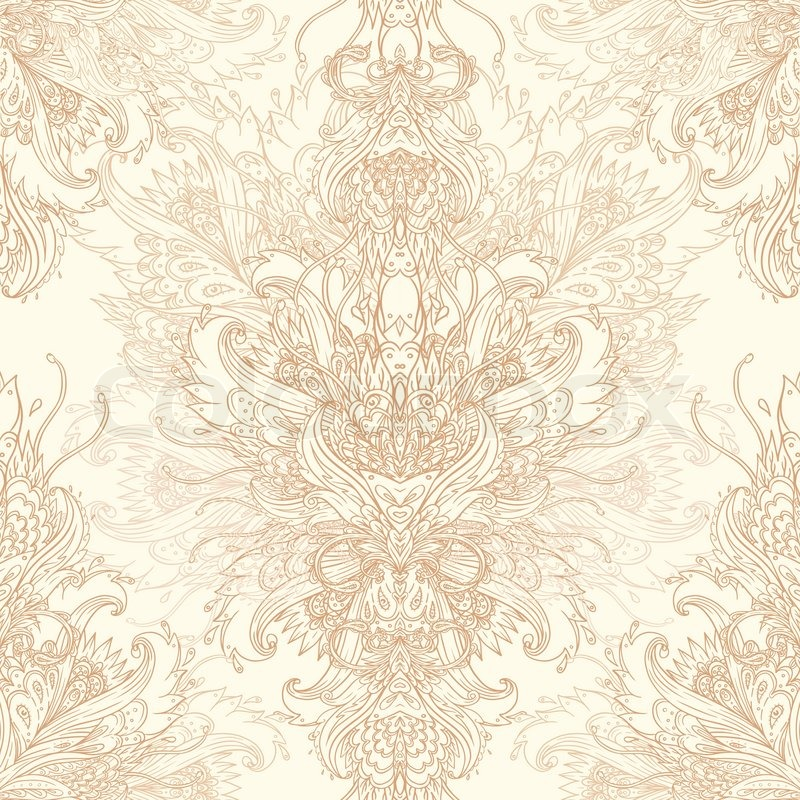 vintage vector background for textile design wallpaper