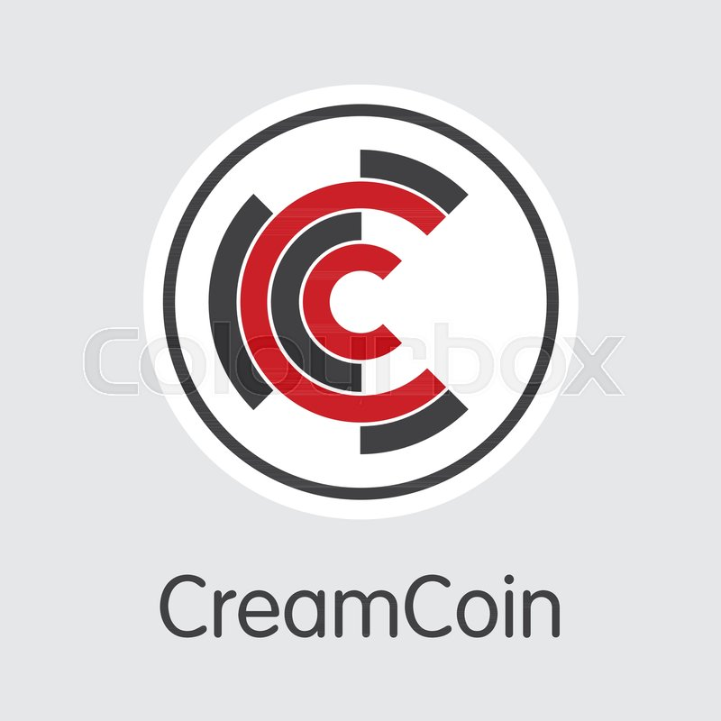 Vector Creamcoin Crypto Currency Coin Image Mining Coin Exchange