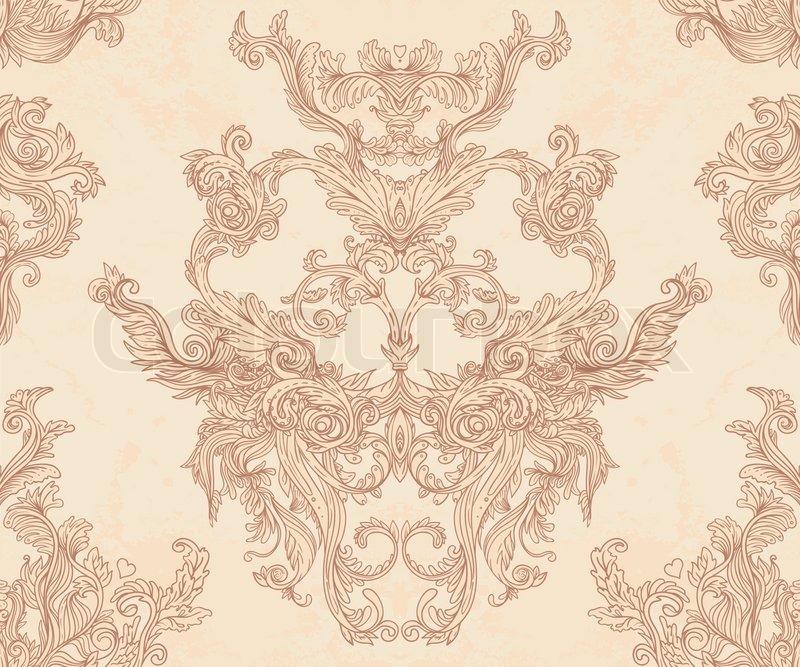 Vintage vector background for textile design wallpaper baroque