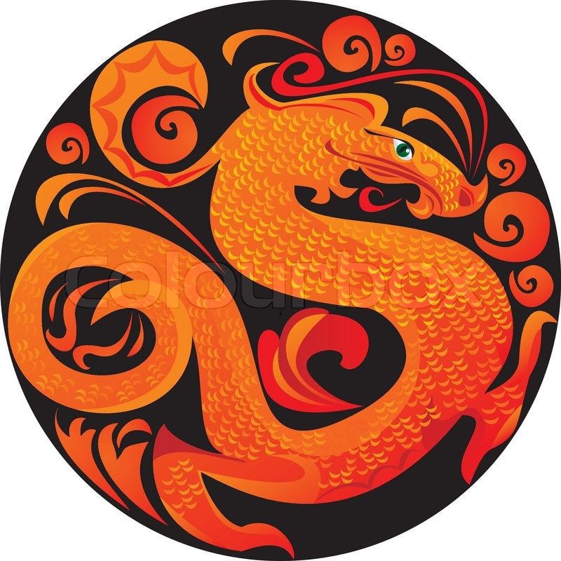 Quot Dragon In Circle Quot Stock Vector Colourbox