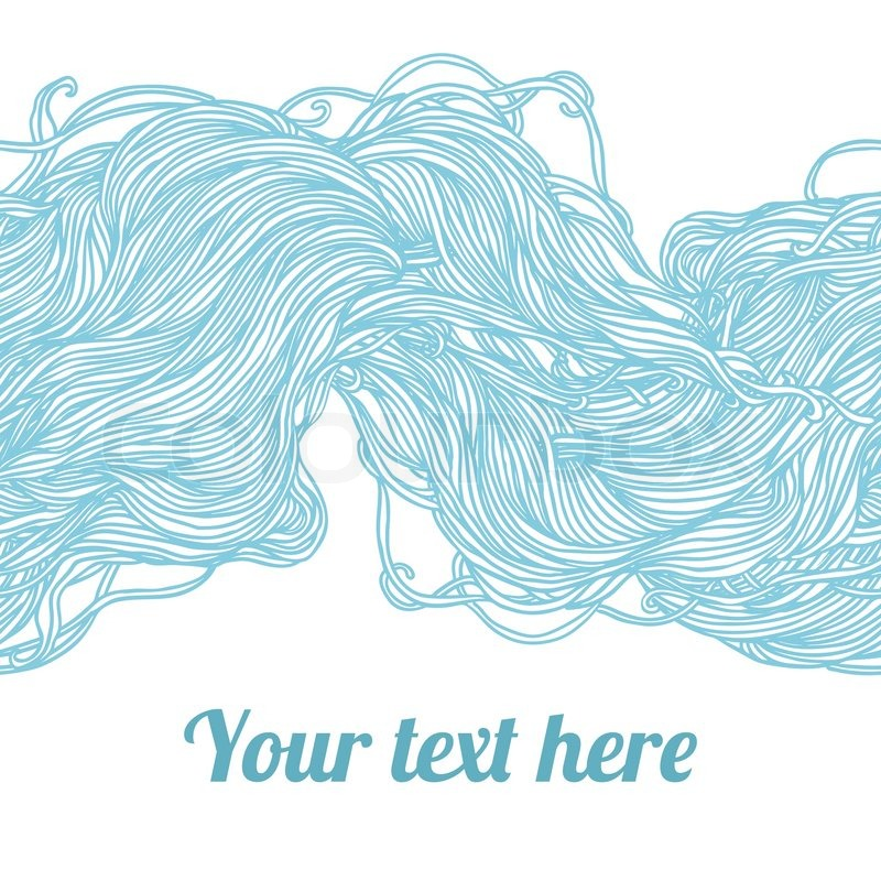 Abstract Light Blue Hand Drawn Pattern Waves Background Seamless Can Be Used For Wallpaper Fills Web Page Surface Textures