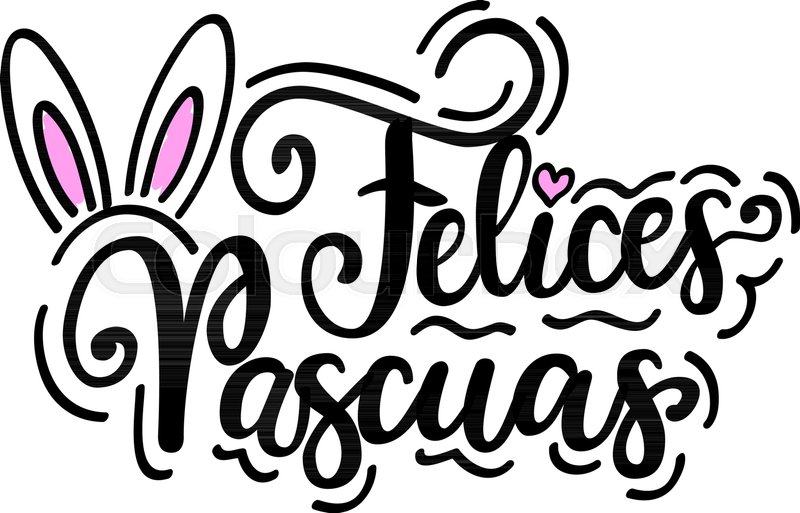 happy easter felices pascuas vector spanish christian holiday design