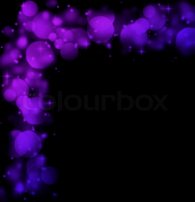 Abstract Holiday Border Of Glowing Stock Photo
