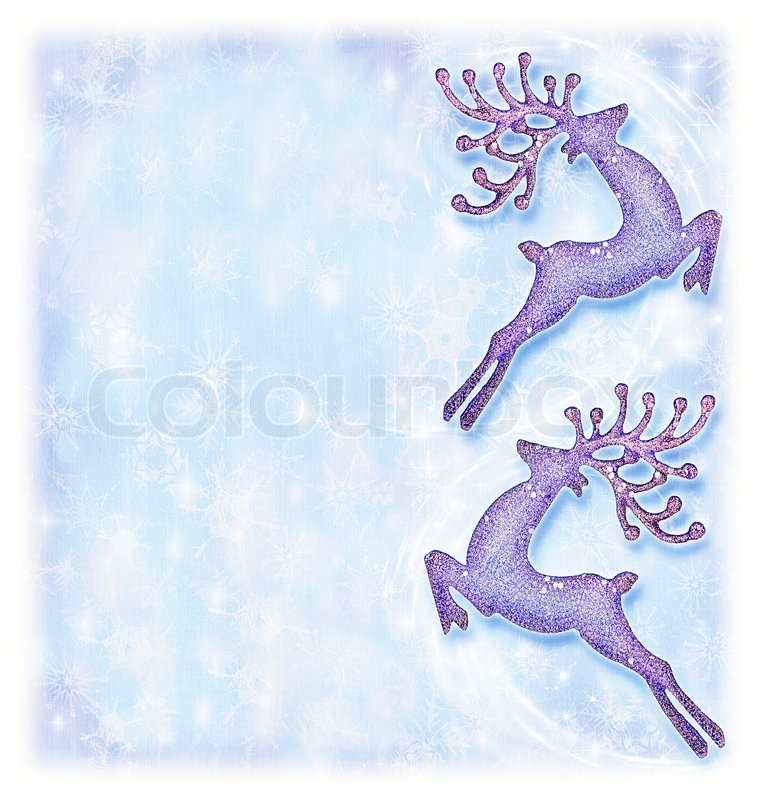 christmas holiday card festive background reindeer decorative border traditional tree ornament abstract shiny glowing lights winter holidays
