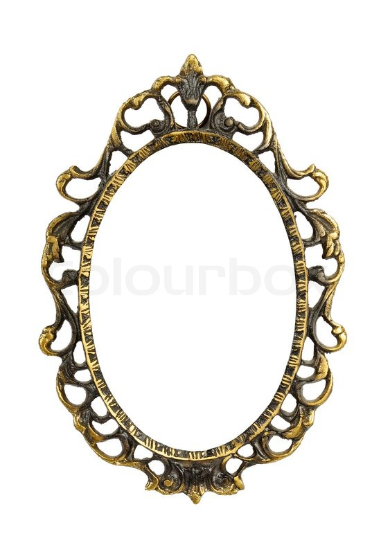 Ornamented, very old, gold plated empty picture frame for putting ...
