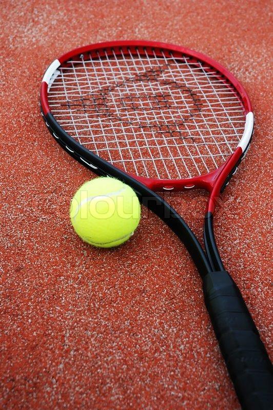 Tennis Racket And Tennis Ball Stock Photo Colourbox