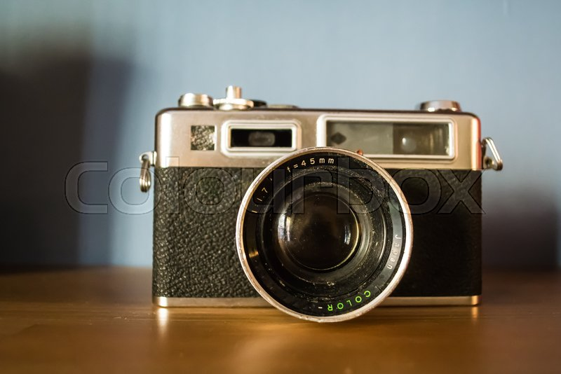 Kamera entfernungsmesser technik stockfoto colourbox