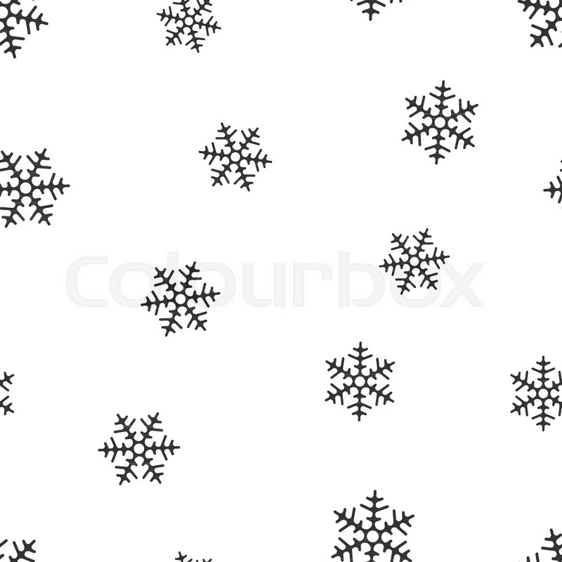 Snowflake Seamless Pattern Background Business Flat Vector
