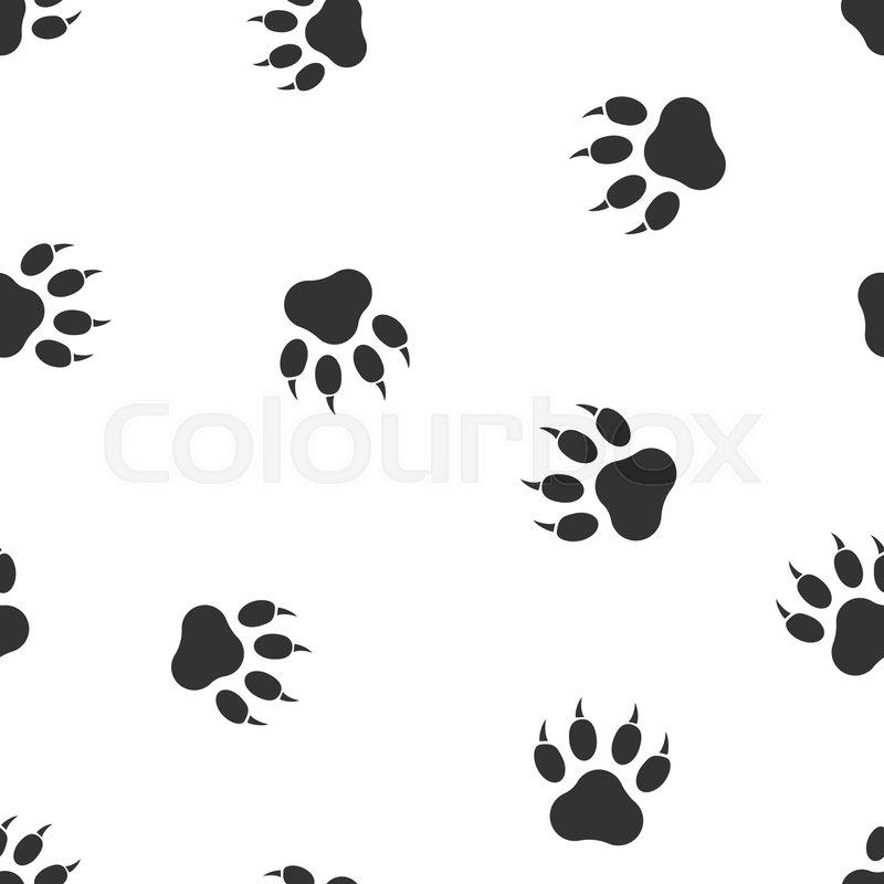 97923501b09d Paw print icon seamless pattern ... | Stock vector | Colourbox
