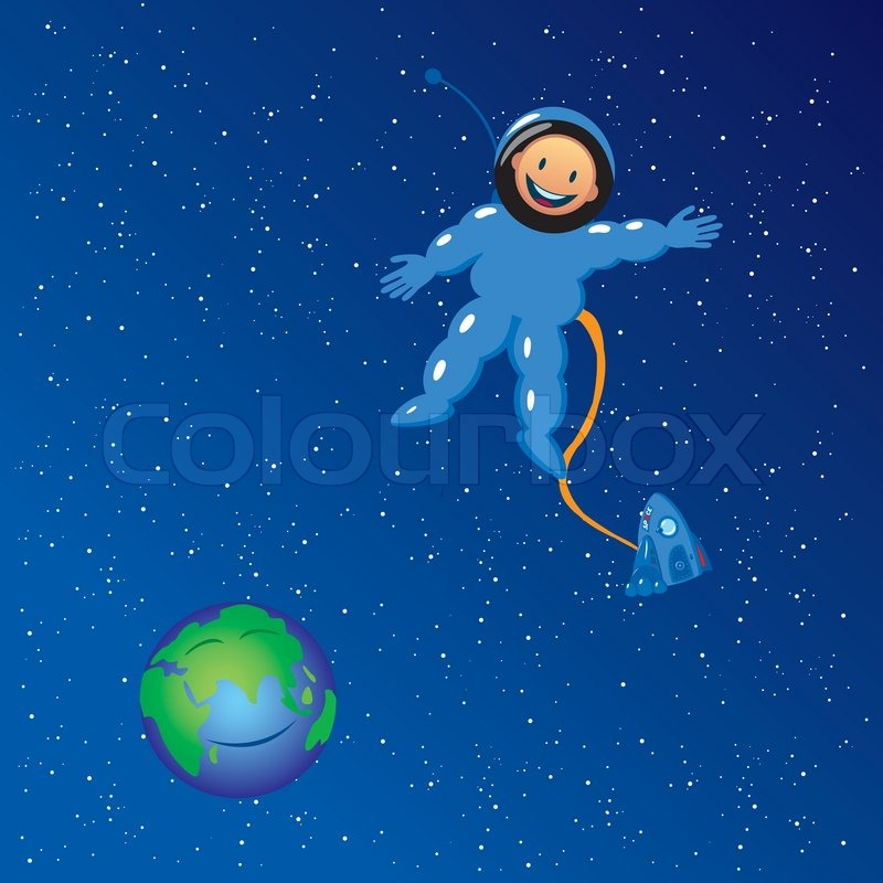 cartoon astronaut in outer space - photo #3