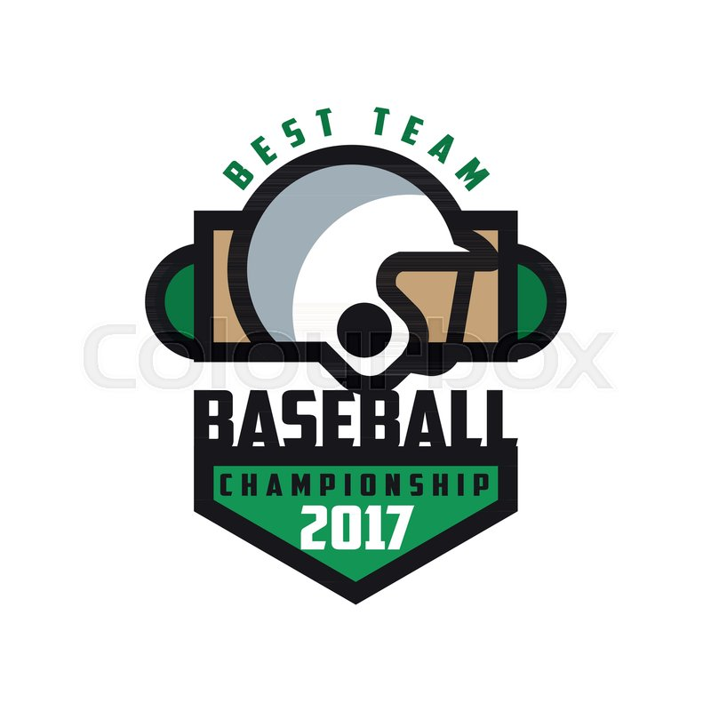 Baseball Championship 2017 Best Team Logo Template Design Element For Badge Banner Emblem Label Insignia Vector Illustration Isolated On A White