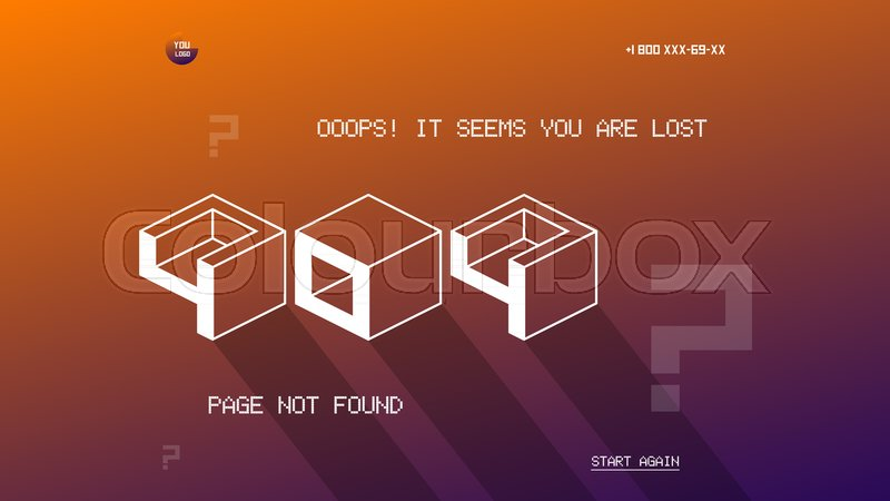 404 page template for website flat design vector 404 page design