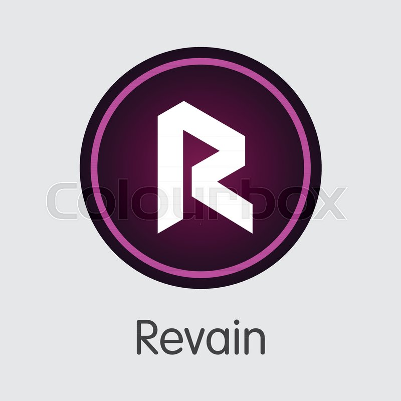 Revain Digital Currency Coin Pictogram Vector Coin Illustration