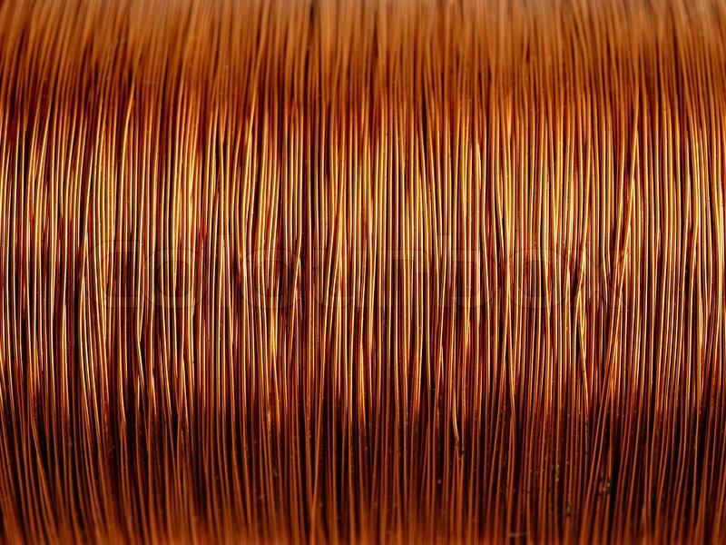 Background Of Copper Wire Stock Photo Colourbox