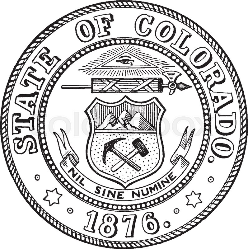 The State Seal Of Colorado This Circle Shape Seal Shows