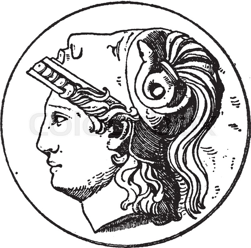 A Picture Of The Minerva Head Which Is A Design On The Greek Goddess
